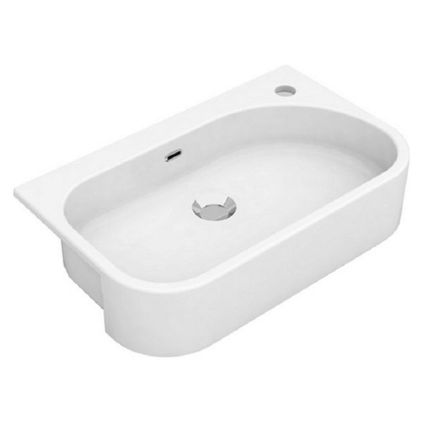 Wickes Siena 1 Tap Hole Semi Recessed Short Projection Basin - 540mm