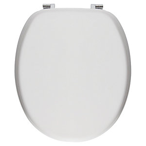 Wickes Standard Close White Moulded Wooden Toilet Seat - White