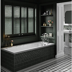 Wickes Savoy Acrylic Traditional Straight Bath - 1700 x 510mm