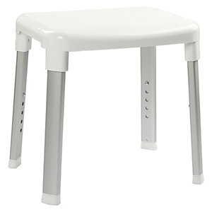 Croydex White Adjustable Shower Stool