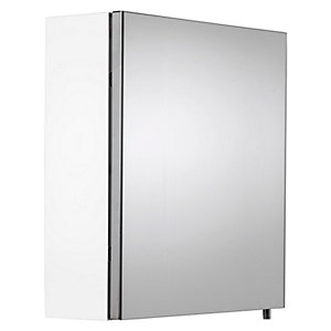 Croydex Folded White Steel Single Door Bathroom Cabinet - 670 x 400mm