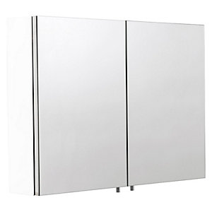 Croydex Folded White Steel Double Bathroom Cabinet - 670 x 800mm