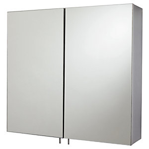 Wickes Stainless Steel Double Bathroom Cabinet 60 x 55mm