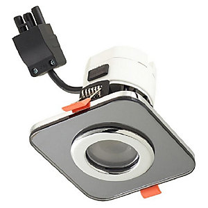 Wickes Square Smoked Glass Downlight