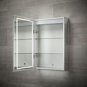 Wickes Diffused LED Single Door Bathroom Mirror Cabinet