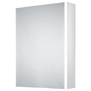 Wickes Grantham Bluetooth LED Single Door Bathroom Mirror Cabinet