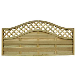 Image of Forest Garden Bristol Fence Panel - 6x3ft Pack of 3