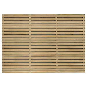 Forest Garden Double Slatted Fence Panel 6 x 4 ft 3 Pack
