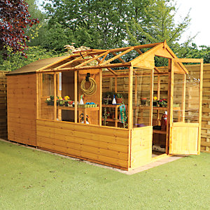Mercia 12 x 6 ft Traditional Apex Greenhouse Combi Shed