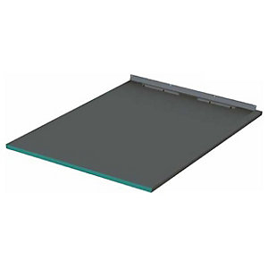 Wickes 30mm Infinity Left Hand Single Fall Rectangular Shower Tray - 1200 X 950mm