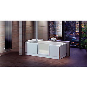Wickes Style Left Hand Easy Access Bath - 1800 x 800mm