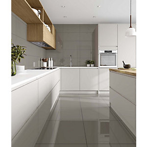 Wickes Toronto Steel Glazed Porcelain 600 x 600mm