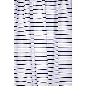 Croydex Shower Curtain - Navy Stripe