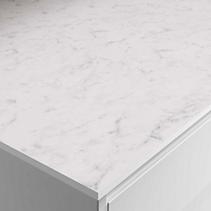 Veined White Zenith Compact Upstand 3000x100x12.5mm