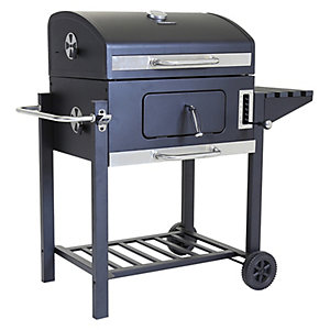 Charles Bentley American Grill Steel Charcoal BBQ - Black