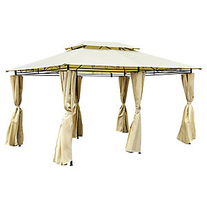 Charles Bentley 4 x 3M Steel Art Gazebo With Curtain