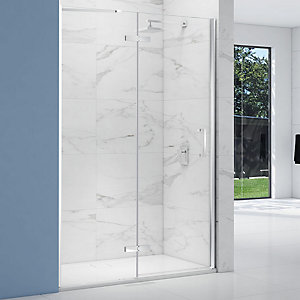 Nexa By Merlyn 8mm Chrome Frameless Inline Hinge Door Only for Side Panel Only - Various Sizes Available