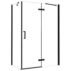 Nexa By Merlyn 8mm Black Frameless Inline Hinge Door For Recess - Various Sizes Available