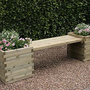 Charles Bentley FSC Timber Windermere Planter Bench