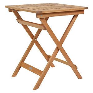 Charles Bentley FSC Eucalyptus Square Folding Bistro Table