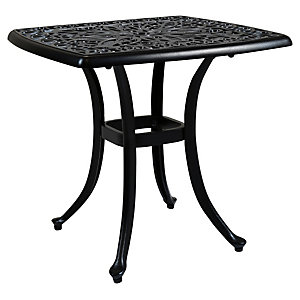 Charles Bentley Cast Aluminium Small Side Table In Black