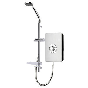 Triton Style Enhance Collection Premium Brushed Steel Electric Shower - 8.5kW