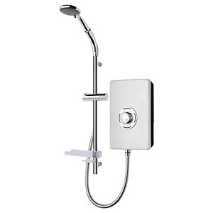 Triton Style Enhance Collection Premium Brushed Steel Electric Shower - 9.5kW