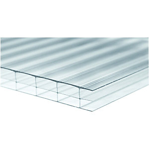 Image of Wickes 16mm Triplewall Polycarbonate Sheet - 980 X 4000mm