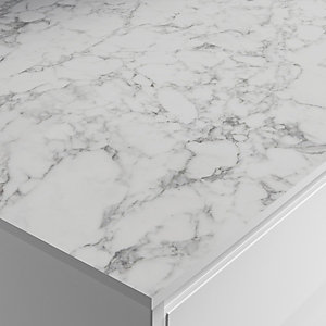 Wickes Laminate Worktop - Marmo Bianco Zenith Compact Worktop 610mm X 12.5mm X 3m
