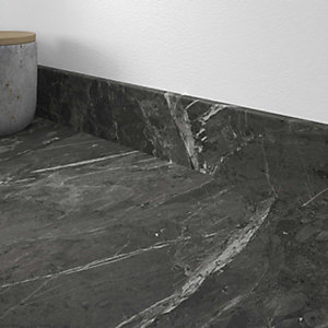 Marmo Nero Laminate Matt Upstand 70 x 12mm x 3m