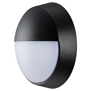Luceco Eco Round Bulkhead Eyelid IP54 Supplied Black & White Trim 10W