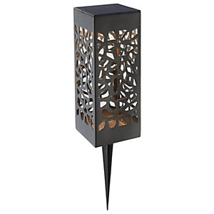 Saxby Mossi Solar Textured Black Spike Light