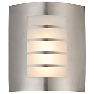 Saxby Reel Brushed Stainless Steel & Opal Wall Light