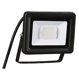 Wickes Aluminium Flood Light IP65 Black 10W