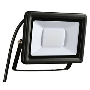 Wickes Aluminium Flood Light IP65 Black 30W