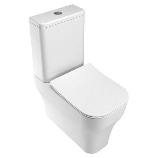 Wickes Siena Easy Clean Close Coupled Toilet Pan & Soft Close Wrap Over Seat - 360mm