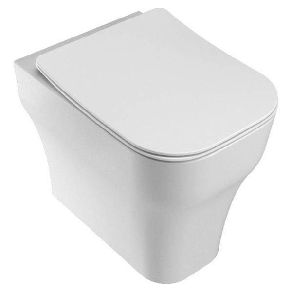 Wickes Siena Easy Clean Back To Wall Furniture Pan & Soft Close Wrap Over Seat - 360mm