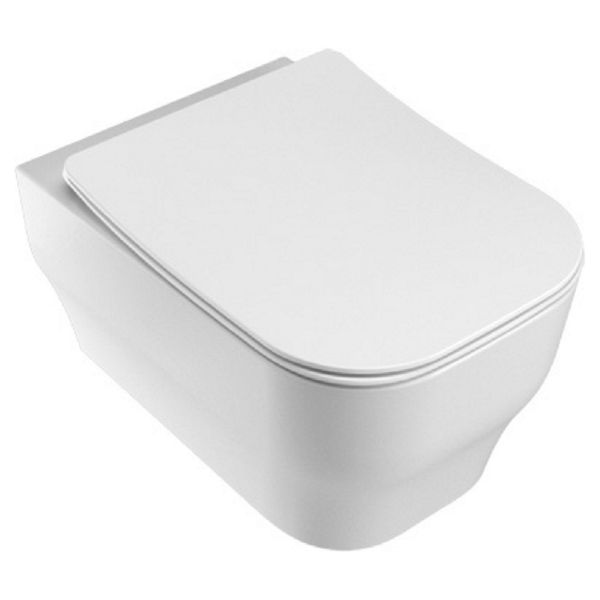 Wickes Siena Easy Clean Wall Hung Toilet Pan & Soft Close Wrap Over Seat - 360mm