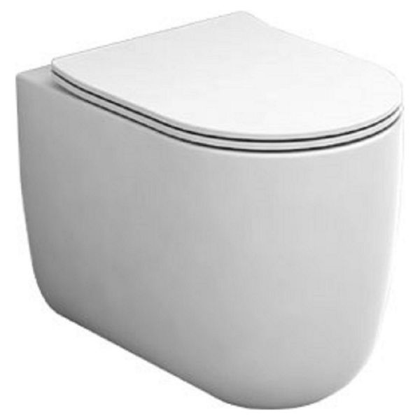Wickes Teramo Easy Clean Back To Wall Furniture Pan & Soft Close Wrap Over Seat - 360mm