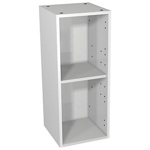 Wickes Hertford Grey Gloss Floorstanding Open Storage Unit - 300 x 735mm