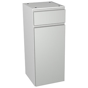 Wickes Hertford Grey Gloss Drawerline Floorstanding Storage Unit - 300 x 735mm