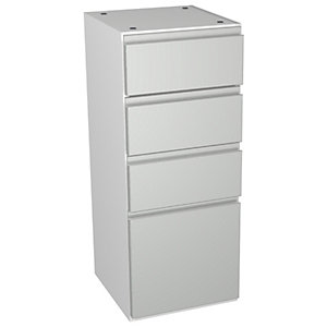 Wickes Hertford Grey Gloss Multi-drawer Floorstanding Storage Unit - 300 x 735mm