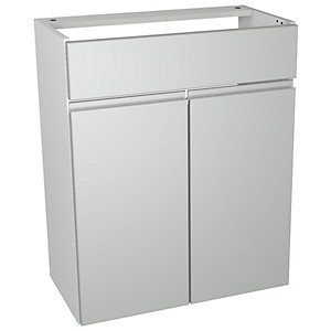 Wickes Hertford Grey Gloss Wall Storage Unit - 600 x 735mm