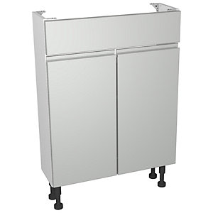 Wickes Hertford Dove Grey Compact Floorstanding Vanity Unit - 600 x 735mm