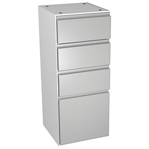 Wickes Hertford Dove Grey Multi - Drawer Floor Standing Storage Unit - 300 x 307mm