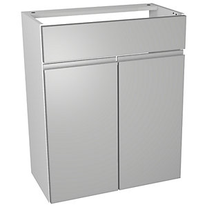 Wickes Hertford Dove Grey Floorstanding Vanity Unit - 600 x 735mm