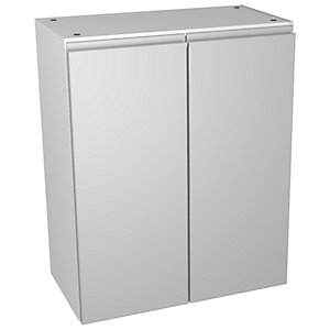 Wickes Hertford Grey Gloss Floorstanding Open Storage Unit - 600 x 735mm