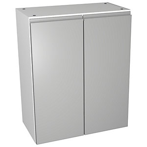 Wickes Hertford Dove Grey Wall Storage Unit - 600 x 735mm