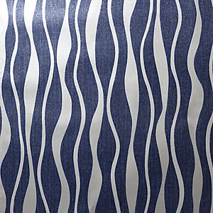 Arthouse Metallic Wave Navy & Silver Wallpaper 10.05m x 53cm