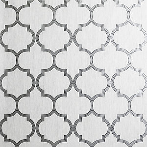 Arthouse Beaded Trellis Grey Wallpaper 10.05m x 53cm